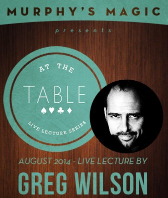 At the Table Live Lecture by Greg Wilson